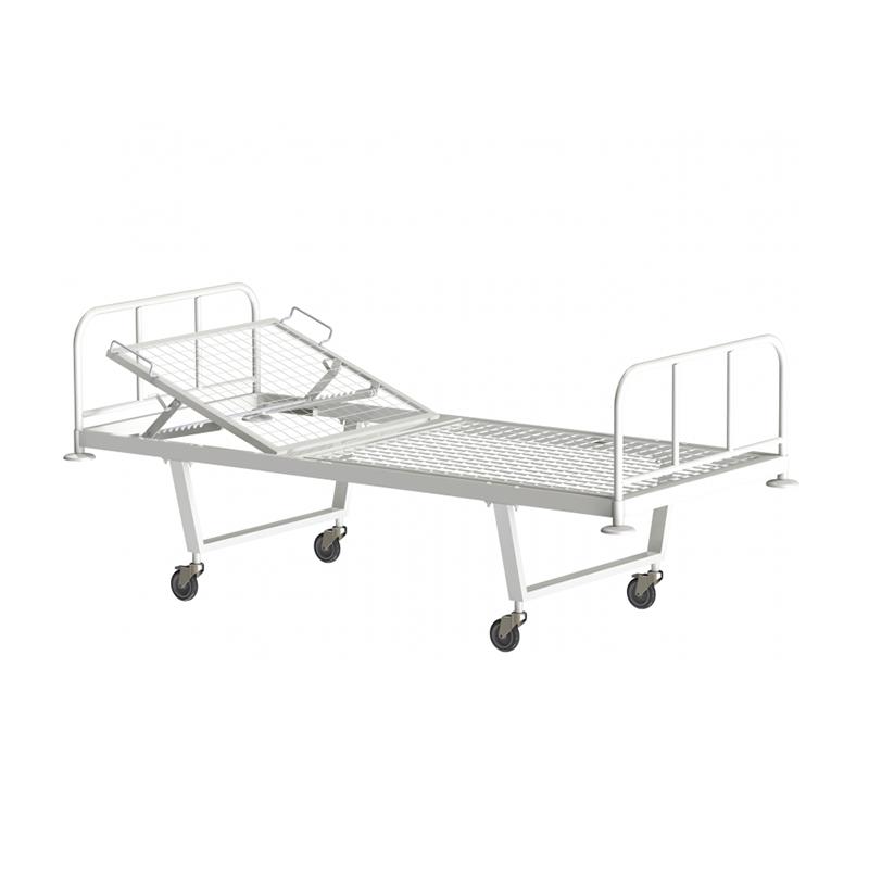 Кровать общебольничная с подголовником КФО-01-МСК, на колесах МСК-101 фото