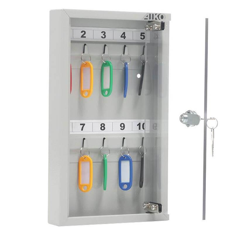 Шкаф для ключей металлический KEY-10 G фото