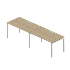 Стол двойной с люками на металлокаркасе Rio Project RM-4.1(x2)+F-28