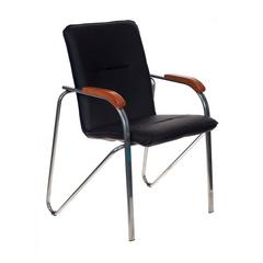 Кресло для посетителя Бюрократ S-SAMBA BLACK