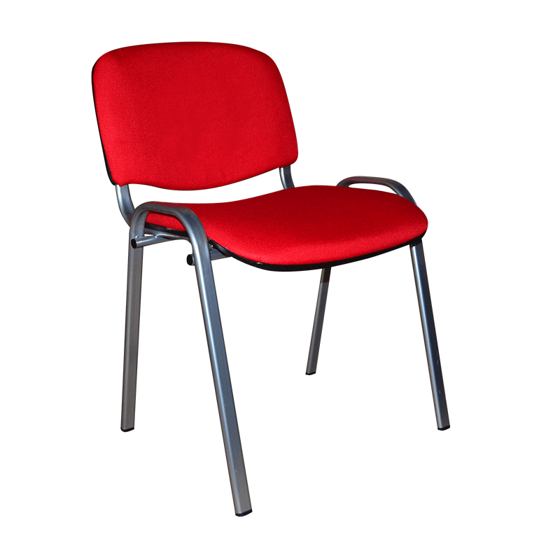 Стул посетителя ISO ткань каркас металл RED фото