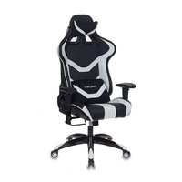Игровое кресло Бюрократ CH-772N черный/белый