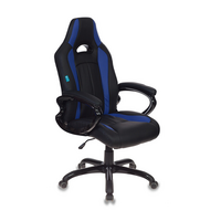 Игровое кресло Бюрократ CH-827 черный/синий