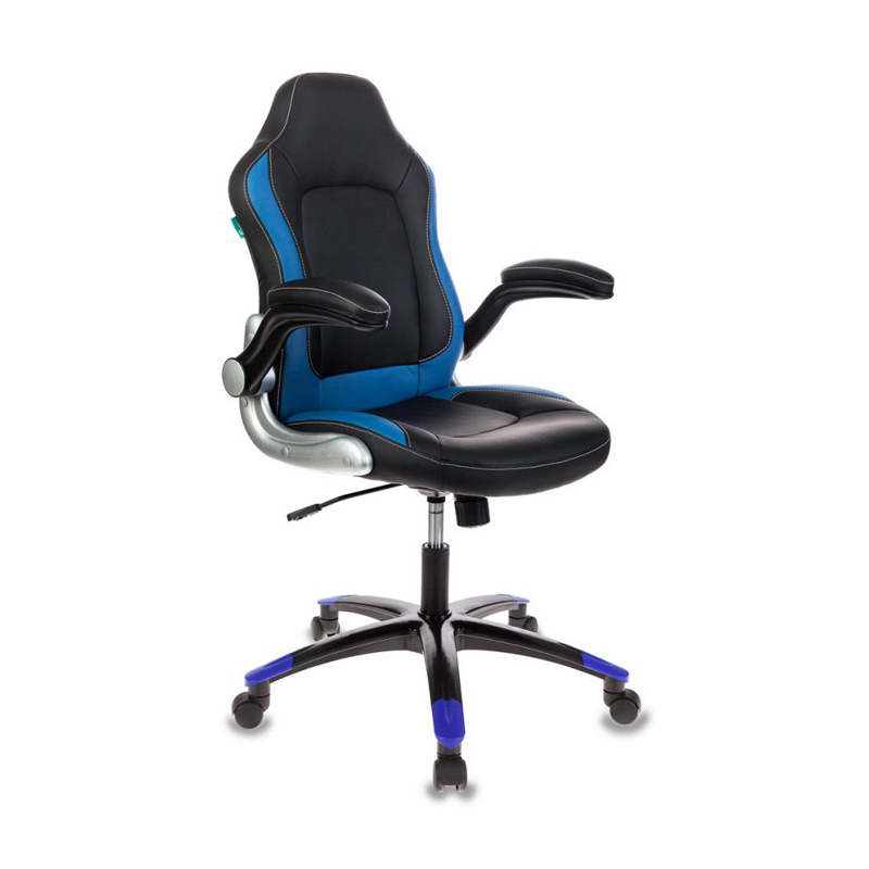Кресло игровое Бюрократ VIKING-1 черный/синий фото