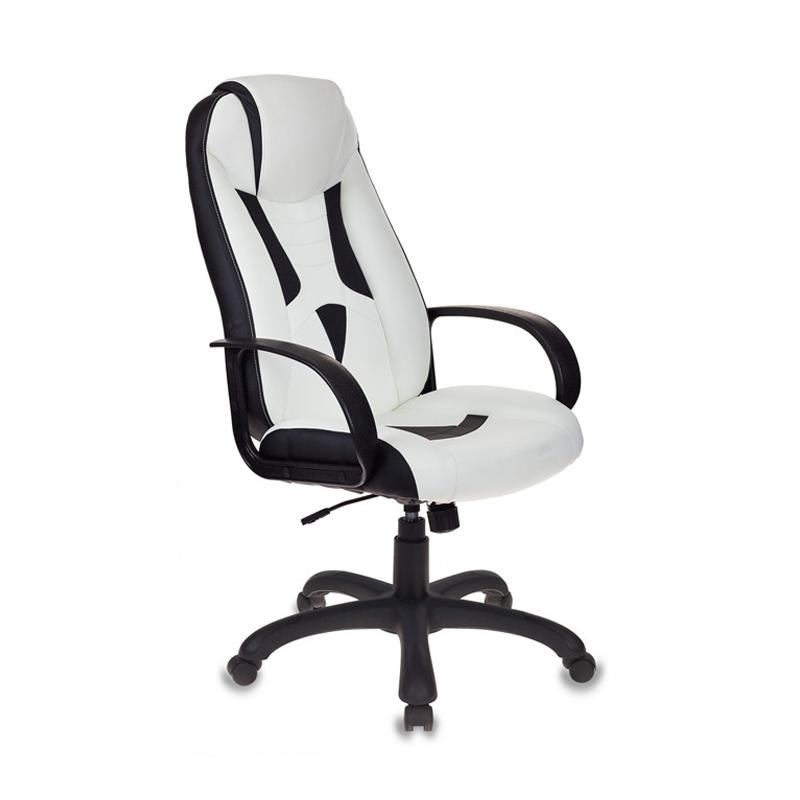 Кресло игровое Бюрократ VIKING-8 черный/белый
