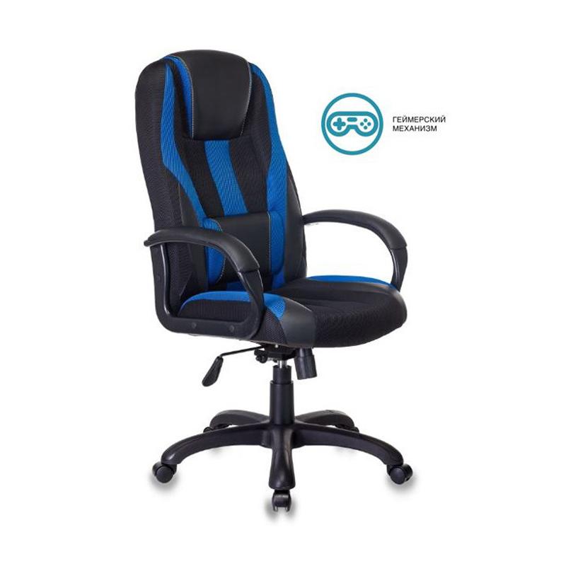 Кресло игровое Бюрократ VIKING-9 черный/синий фото
