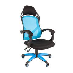 Игровое кресло GAME 12 черный/голубой