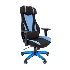 Игровое кресло GAME 14 черный/голубой