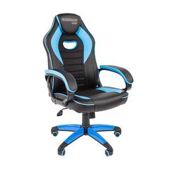 Игровое кресло GAME 16 черный/голубой