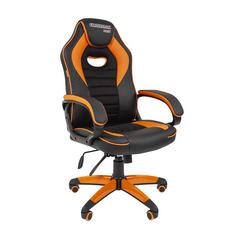 Игровое кресло GAME 16 черный/оранжевый