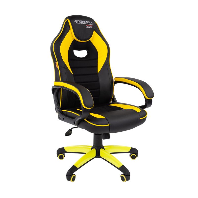 Кресло игровое CHAIRMAN GAME 16 черный/желтый фото