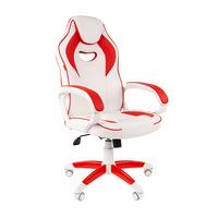 Игровое кресло CHAIRMAN GAME 16 белый/красный