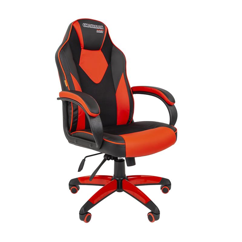 Кресло игровое CHAIRMAN GAME 17 черный/красный фото
