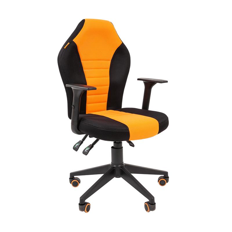 Кресло игровое CHAIRMAN GAME 8 черный/оранжевый фото