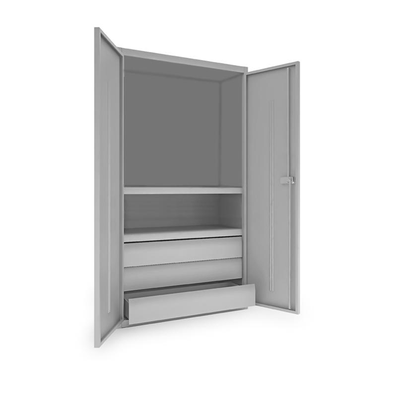 Шкаф металлический инструментальный ИШ-1850 (2 полки,3 ящика) фото