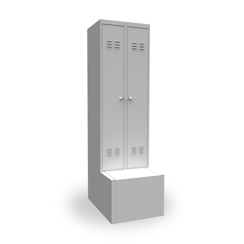 Шкаф металлический для одежды ШР-22 L600 Т фото