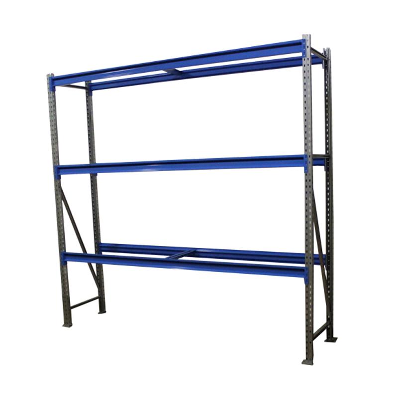 Металлический складской стеллаж РП-50 (Solos) 2100х1200х500 3 яруса Синий без настила фото
