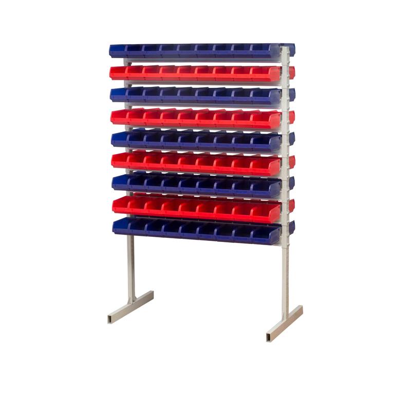 Стойка двухсторонняя 1500 с пластиковыми  ящиком 170х105х75 (162 шт.)