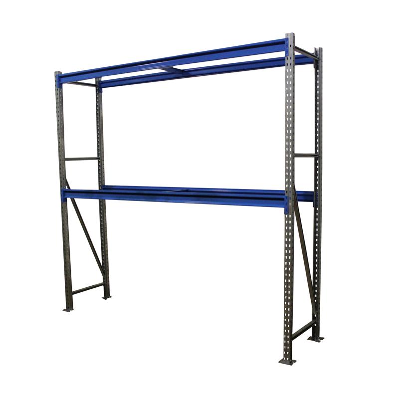 Металлический складской стеллаж РП-50 (Solos) 2100х1800х600 2 яруса Синий без настила фото