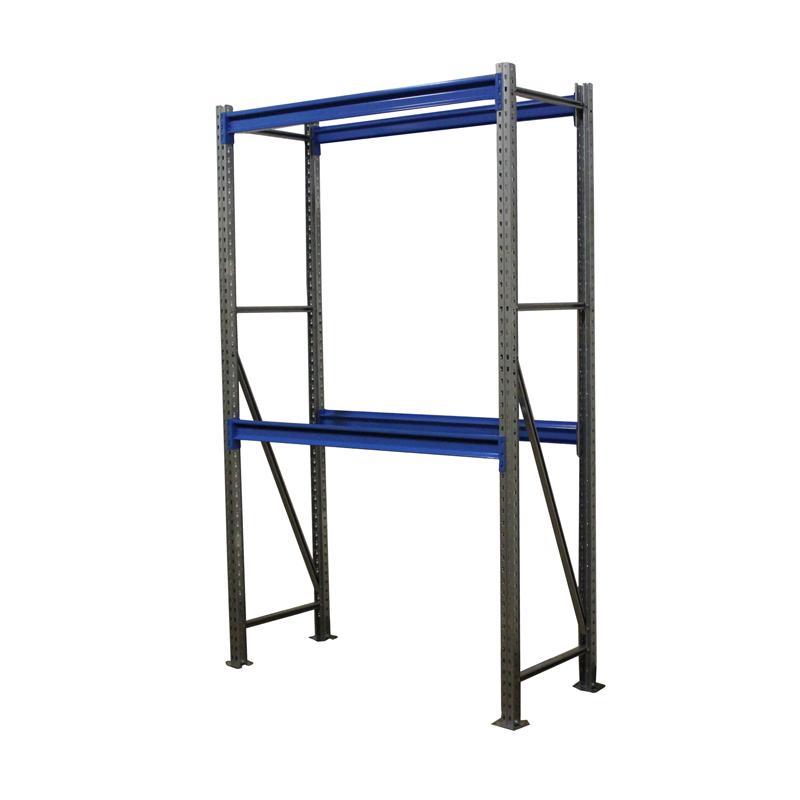 Металлический складской стеллаж РП-50 (Solos) 2100х1200х600 2 яруса Синий без настила фото
