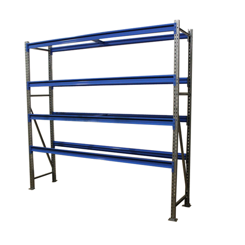 Металлический складской стеллаж РП-50 (Solos) 2100х1500х600 4 яруса Синий без настила фото