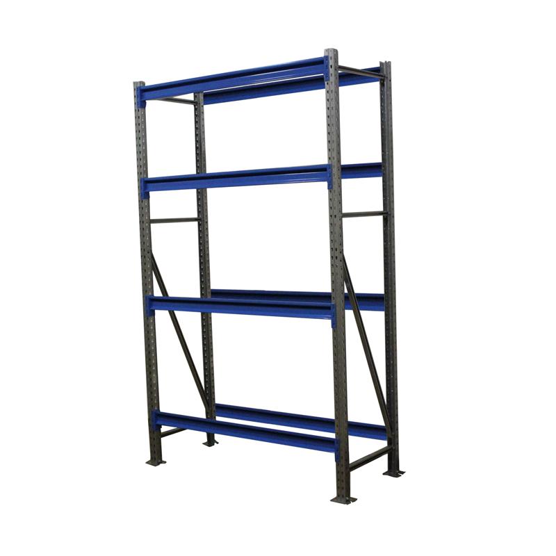 Металлический складской стеллаж РП-50 (Solos) 2100х1200х600 4 яруса Синий без настила фото
