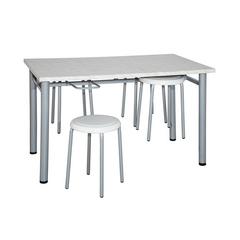 Стол обеденный с подвесами для 6-ти табуретов