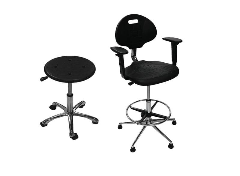 Кресла и табуреты промышленные винтовые из полиуретана
