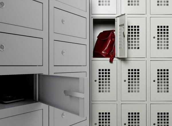 Шкафы для сумок и личных вещей